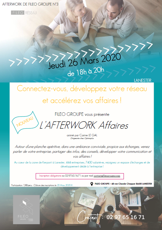 Afterwork Affaires à Lanester le 26/03/2020
